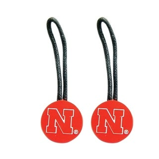 NCAA Zipper Pull Pet id Luggage Bag Tag Nebraska Huskers 2 Pack