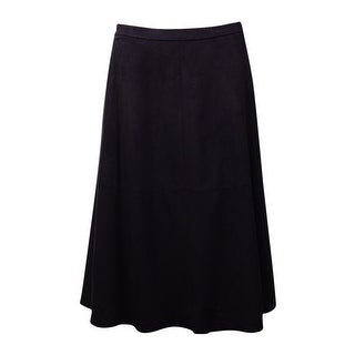 Vince Camuto Women's Faux Suede A-Line Skirt