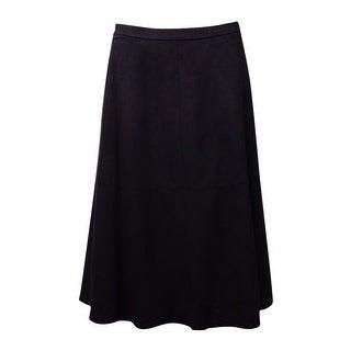 Vince Camuto Women's Faux Suede A-Line Skirt - rich black (2 options available)