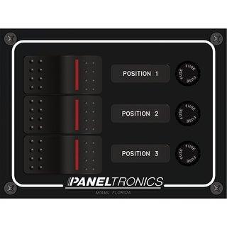 Paneltronics DC 3 Position Illuminated Rocker Switch - 9960014B