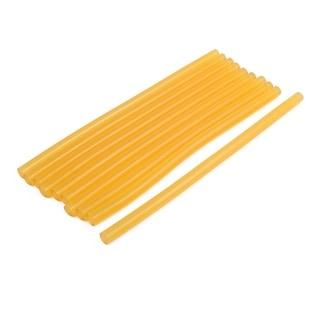 11mmx270mm Heating Gun Hot Melt Glue Adhesive Stick Yellow 10pcs