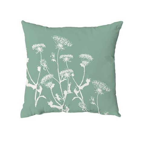 Breezy Wildflower Throw Pillow