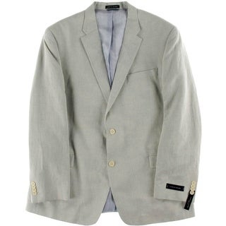 Tommy Hilfiger Mens Long Sleeves Lined Two-Button Blazer - 46L