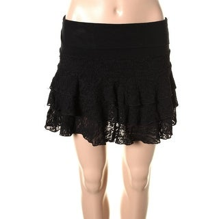 Guess Womens A-Line Skirt Lace Tiered - S