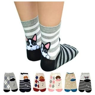 Women's Cute Art Cartoon Colorful Casual Crew Cotton Animal Socks|https://ak1.ostkcdn.com/images/products/is/images/direct/ed4dbec80e1da8be78fd8f89abb086490b3e0498/Women%27s-Cute-Art-Cartoon-Colorful-Casual-Crew-Cotton-Animal-Socks.jpg?impolicy=medium