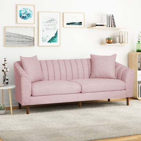 Ansonia Channel Stitch 3 Seater Sofa by Christopher Knight Home