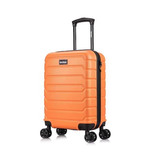 InUSA Trend lightweight hardside spinner 20 inch carry-on Orange
