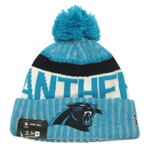 5146bc5590595 New Era Carolina Panthers Knit Beanie Cap Hat NFL On Field Sideline 11460406