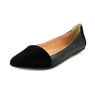 Sole Society Janette Women Pointed Toe Leather Black Flats