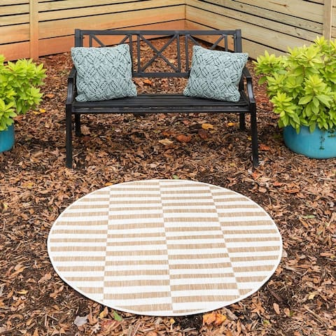 Unique Loom Outdoor Striped Area Rug