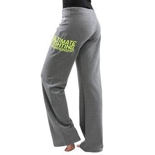 UFC TUF Women's Team Pettis Sweatpants - Grey/Neon Yellow