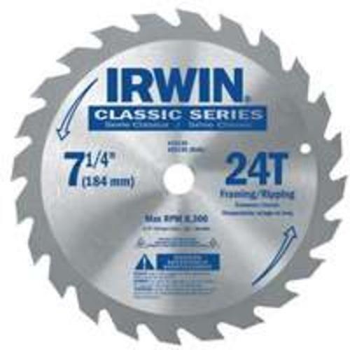 Irwin 15130 Circular Saw Blade, 7-1/4, 24 Teeth