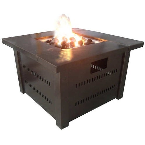 Hiland GS F PC Propane Outdoor Fire Pit   Hammered Bronze