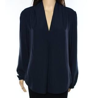 Michael Kors NEW Blue Womens Size Medium M Long-Sleeve V-Neck Blouse|https://ak1.ostkcdn.com/images/products/is/images/direct/ed53f69c40cb1b8e42b4d203a3eb531ea54c7c6d/Michael-Kors-NEW-Blue-Womens-Size-Medium-M-Long-Sleeve-V-Neck-Blouse.jpg?impolicy=medium