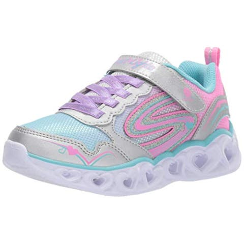 Skechers Kids Baby Girl'S Heart Lights 20294N (Toddler) Silver/Multi 7 M Us Toddler