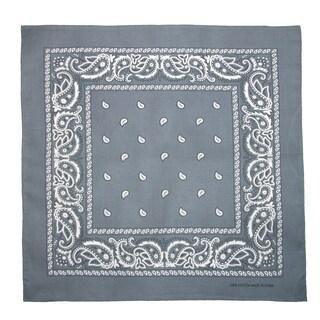 CTM® Cotton Paisley All-Purpose Bandana - One size (Option: charcoal)