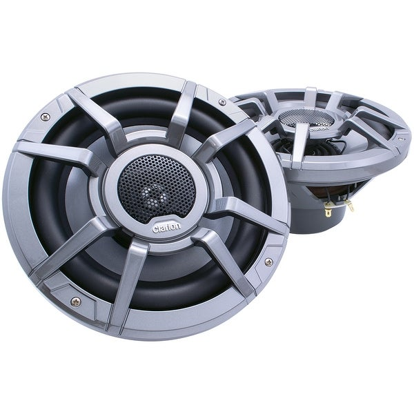 "Clarion CM2223R 8.8"" 2-Way 200W Speakers Water Resistant 1"" Aluminum Dome Tweeter"