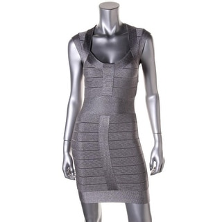 French Connection Womens Metallic Bandage Clubwear Dress - 2
