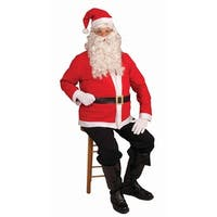 Santa Claus Jacket Accessory Costume Set Adult Standard - Red