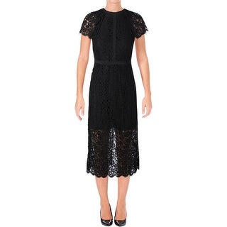 Rachel Zoe Womens Cocktail Dress Lace Fringe