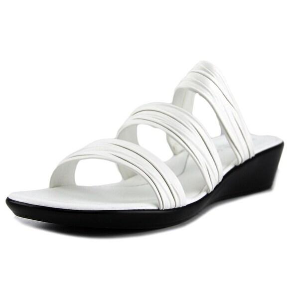 Italian Shoe Makers Scout Women Open Toe Canvas White Sandals
