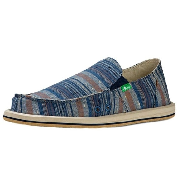 Sanuk Casual Shoes Mens Donny Canvas Slip On Rubber Sole