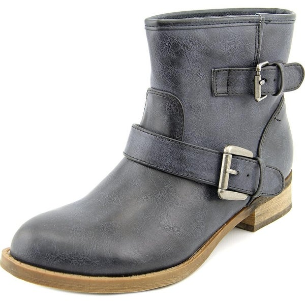 Famous Name Brand Jo Jo Round Toe Synthetic Ankle Boot