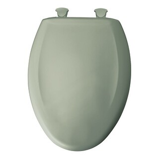 Bemis 1200SLOWT Elongated Closed-Front Toilet Seat and Lid with Whisper-Close?, Easy-Clean & Change?, and STA-TITE Seat