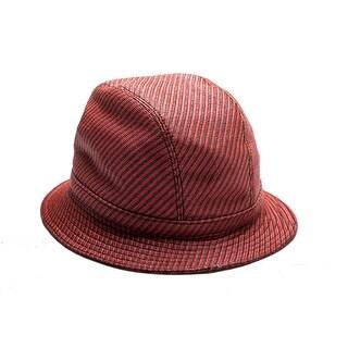 Prada Men's Polyester Cotton Blend Woven Bucket Hat Red