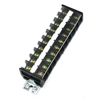 660V 30A Dual Rows 10 Positions Covered Screw Terminal Barrier Strip Block