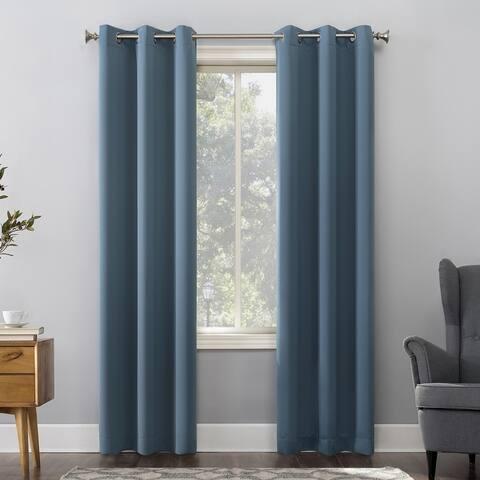 Sun Zero Hayden Energy Saving Blackout Grommet Curtain Panel