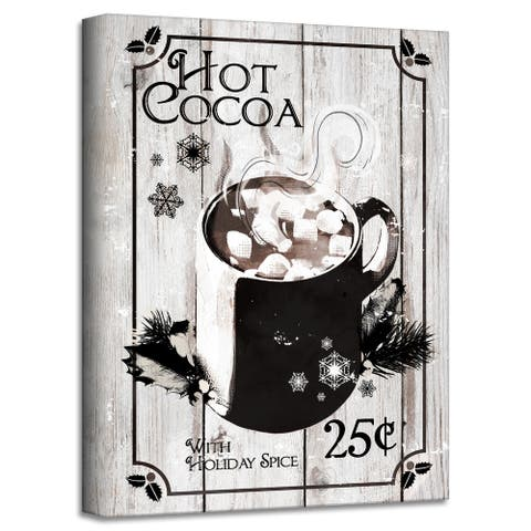 Ready2HangArt 'Hot Cocoa' Holiday Canvas Wall Art by Olivia Rose
