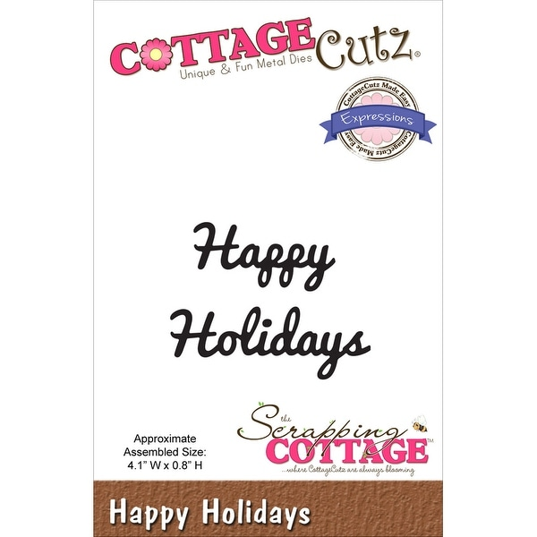 "CottageCutz Expressions Die-Happy Holiday 4.1""X.8"""