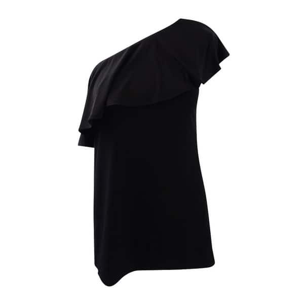 184e6b949b Shop Inc International Concepts Women s Ruffled One-Shoulder Top (M ...