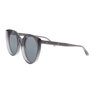 Bottega Veneta BV0148S 001 Gray Cateye Sunglasses