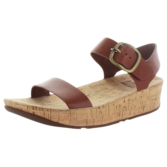 FitFlop Bon Women's Cork Sandals Leather Toning Comfort