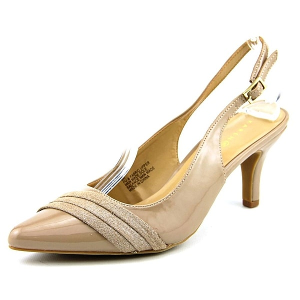 Karen Scott Ginaa Women Pointed Toe Synthetic Nude Slingback Heel