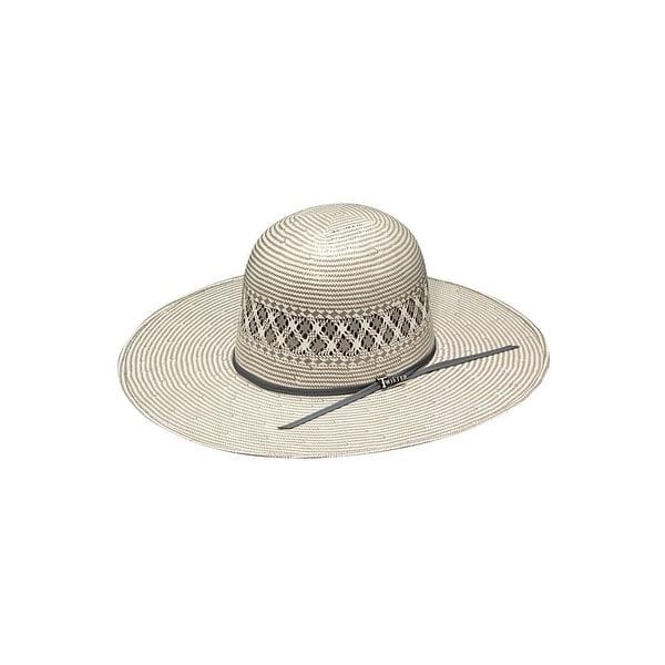 167fbf8db657c Shop Twister Cowboy Hat Mens Straw Open Crown Ribbon 7