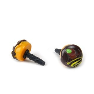 JAVOedge Doughnut Charm for Headphone Jack - Brown