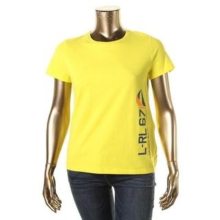 L-RL Lauren Active Womens Signature Atheltic T-Shirt - L