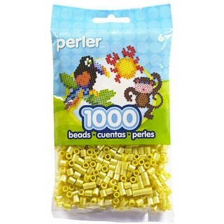 Perler Pearl Beads 1,000/Pkg-Yellow