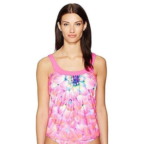 Coco Reef Silent Bloom Ultrafit Tankini Top (Pink, 34F) - 34F
