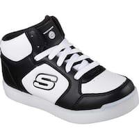 Skechers Children's S Lights Energy Lights E-Pro High Top Sneaker Black/White