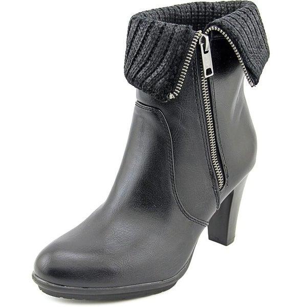 Rialto Petrina Women Round Toe Synthetic Black Ankle Boot