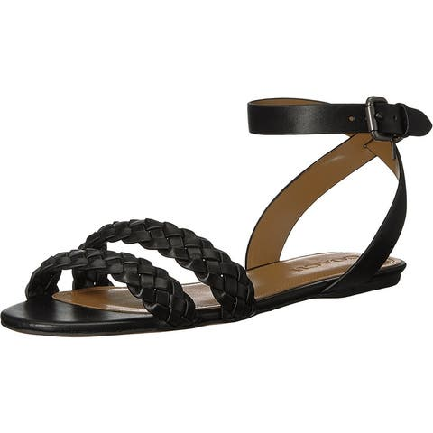 a7f32e707b1 Coach Womens Scarlett Leather Open Toe Casual Ankle Strap Sandals