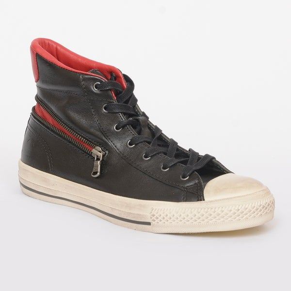 66d0fc35b85b7d John Varvatos Converse Chuck Taylor All Star Black Leather Zip High Top  Sneakers