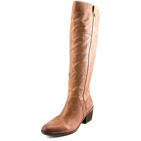 Vince Camuto Mordona Women Round Toe Leather Brown Knee High Boot