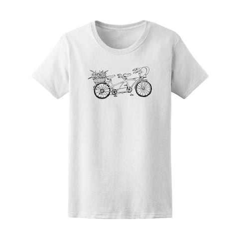 Bicycle With Basket Of Flower Tee Women's -Image by Shutterstock