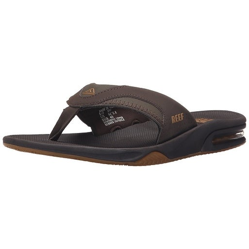 cdf560a91e79 Shop Reef Mens Fanning Slip On Open Toe Flip Flops - Free Shipping On  Orders Over  45 - Overstock.com - 20549643
