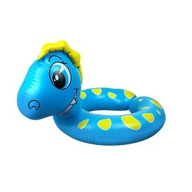 "24"" Blue and Yellow Dragon Children's Inflatable Swimming Pool Split Ring Inner Tube"